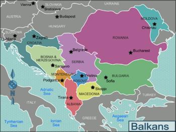 Les Balkans aujourd'hui
